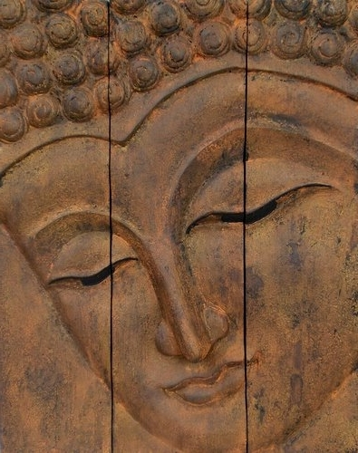 Wooden Buddha Face Wall Art Panel 50Cm X 40Cm 20X16 Rustic Gold Brown Throughout Most Recently Released Buddha Wooden Wall Art (View 12 of 15)