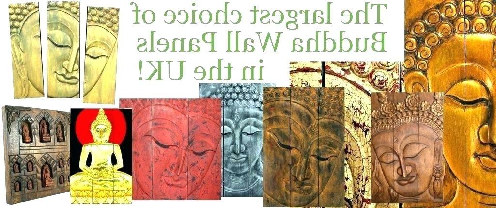 Wooden Buddha Wall Art Face Wooden Hand Carved Wall Decor Wall Art Inside Most Current Buddha Wood Wall Art (View 12 of 15)