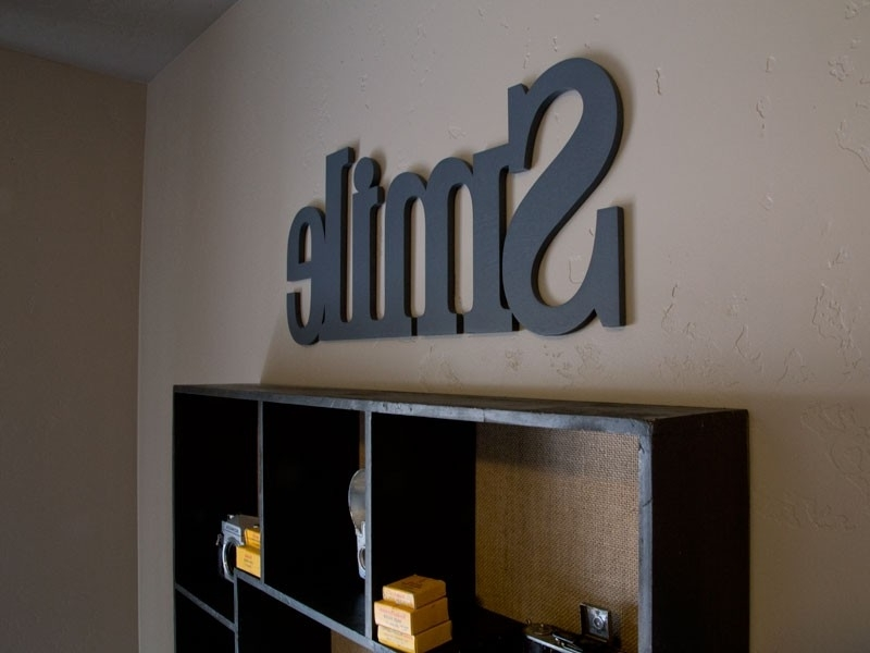 Wooden Words Wall Art With Newest Connected Wood Letters – Wooden Words Custom Made (View 12 of 15)