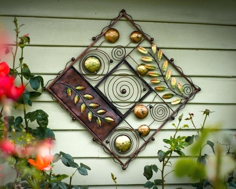 Wrought Iron Garden Wall Art With Favorite Wrought Iron Garden Wall Art Beautiful Wrought Iron Outdoor Wall (View 6 of 15)