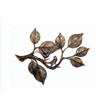 Wrought Iron Tree Wall Art With Regard To Latest Wrought Iron Wall Décor Tree And 2 Birds – The Ethnic Story (View 10 of 15)