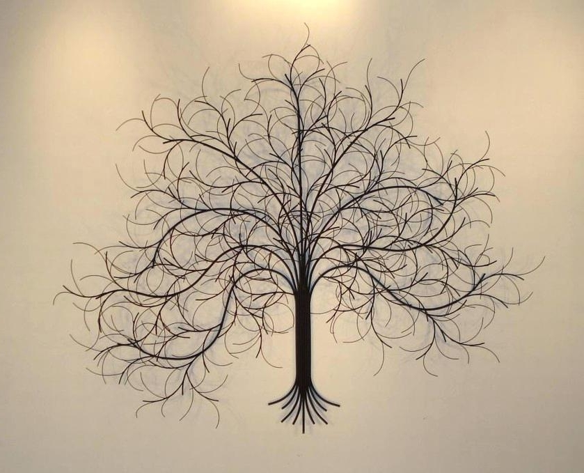 Wrought Iron Tree Wall Art With Regard To Well Known Iron Wall Art Large Wrought Decor Tree Metal Amazonca – Living (View 3 of 15)