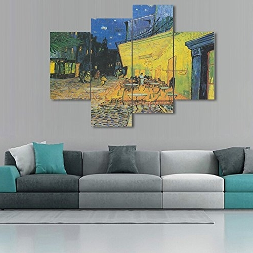 Yatsen Bridge Large Painting Canvas Prints Cafe Terrace At Night Throughout Most Recent Vincent Van Gogh Wall Art (View 15 of 15)