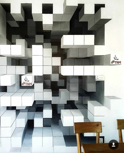 Featured Photo of Cubes 3D Wall Art