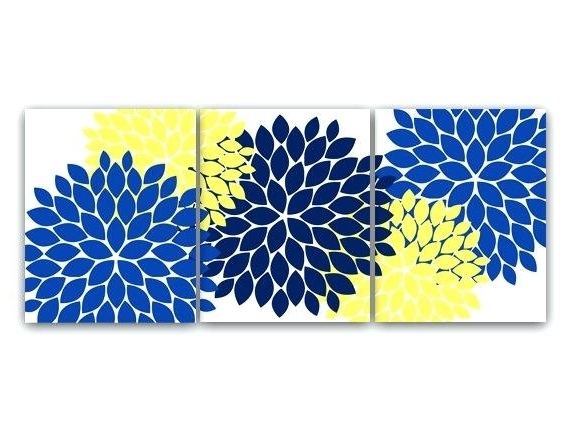 Yellow And Blue Wall Art inside Most Up-to-Date Yellow And Blue Wall Art Soft Yellow Blue Canvas Prints Yellow Blue