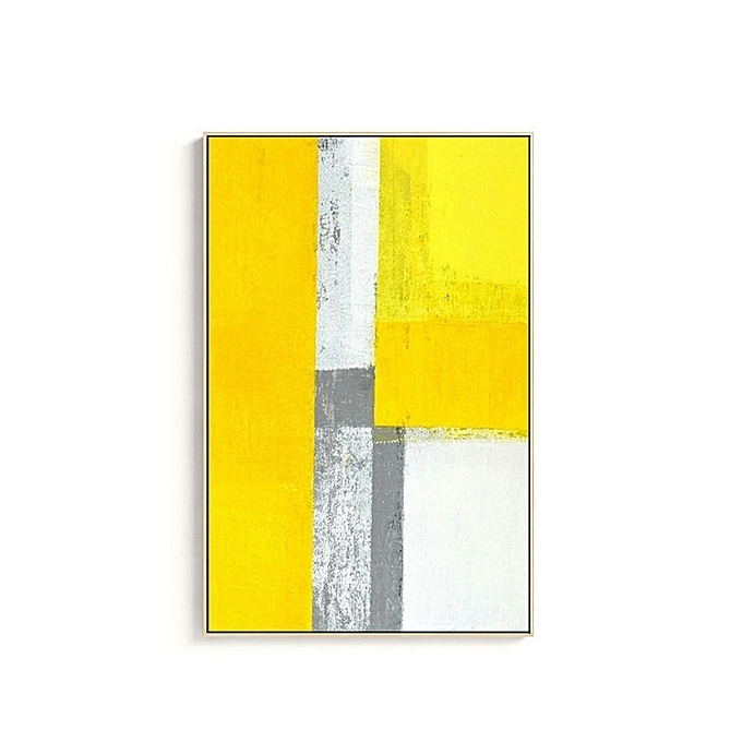 Yellow And Grey Abstract Wall Art For Preferred Buy Generic Mustard Yellow Grey Abstract Painting Canvas Wall Art (View 14 of 15)