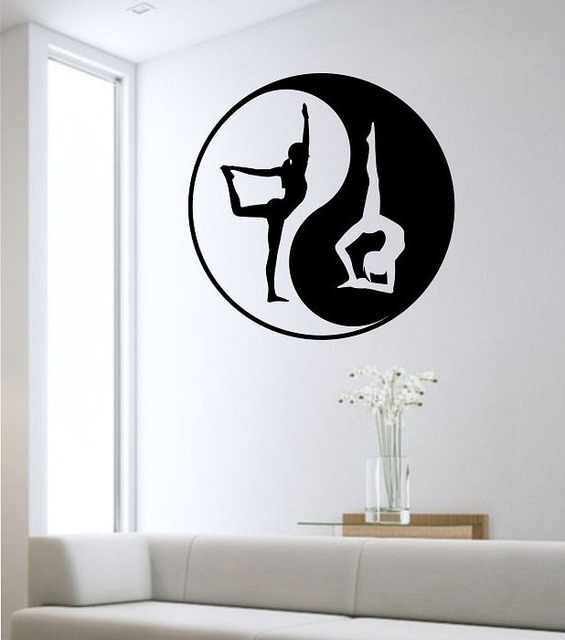 Yin Yang Wall Decal Yoga Namaste Vinyl Sticker Wall Art Decor Throughout Latest Yin Yang Wall Art (View 4 of 15)