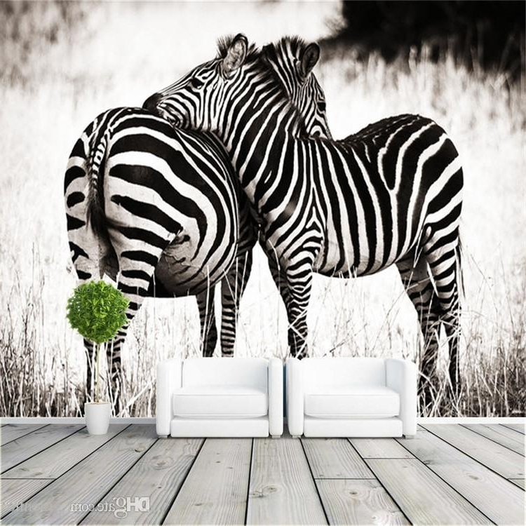 Zebra 3D Wall Art With Recent Fashion Photo Wallpaper Love Zebra Wall Mural Art Design Animal Room (View 14 of 15)