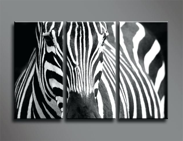 Zebra Wall Art Canvas Zebra Canvas Print Zebra Canvas Prints Canvas Inside Newest Zebra Wall Art Canvas (View 7 of 15)