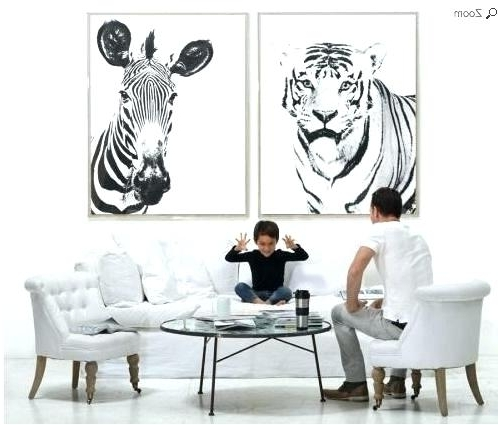 Zebra Wall Art Canvas Zebra Wall Decor Wall Art Designs Zebra Wall With Most Current Zebra Wall Art Canvas (View 15 of 15)