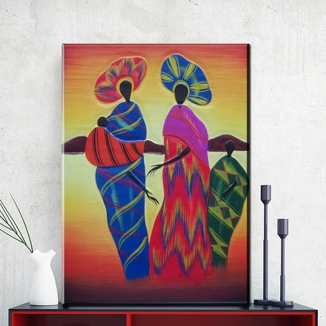 Zz716 Modern Abstract Canvas Wall Art Colorful Abstract African With Regard To Most Current Colorful Abstract Wall Art (View 15 of 15)