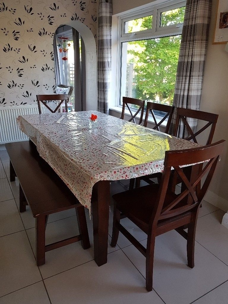 10 Seater Dining Tables And Chairs For Preferred 8 – 10 Seater Dining Table, 5 Chairs & Bench (View 14 of 25)