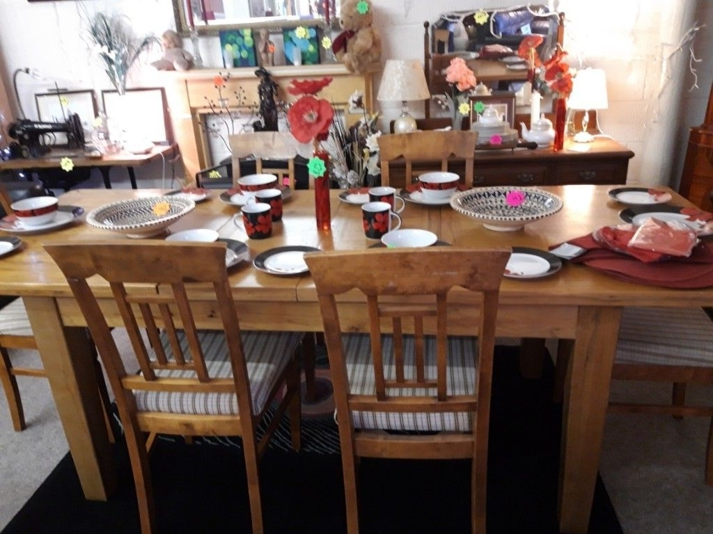 [%100% Solid Oak Dining Table, 6 Chairs Low Cost Moves Copley Mill 2Nd Inside 2017 Second Hand Oak Dining Chairs|Second Hand Oak Dining Chairs Regarding Recent 100% Solid Oak Dining Table, 6 Chairs Low Cost Moves Copley Mill 2Nd|Fashionable Second Hand Oak Dining Chairs Inside 100% Solid Oak Dining Table, 6 Chairs Low Cost Moves Copley Mill 2Nd|Well Liked 100% Solid Oak Dining Table, 6 Chairs Low Cost Moves Copley Mill 2Nd Throughout Second Hand Oak Dining Chairs%] (View 1 of 25)