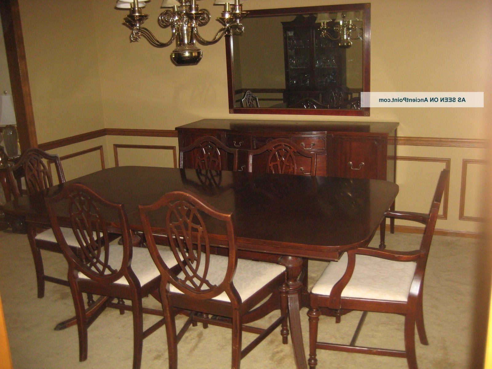 1930 ' S Duncan Phyfe 11 Piece Mahogany Dining Room Set 1900 1950 Within Preferred Mahogany Dining Table Sets (View 5 of 25)