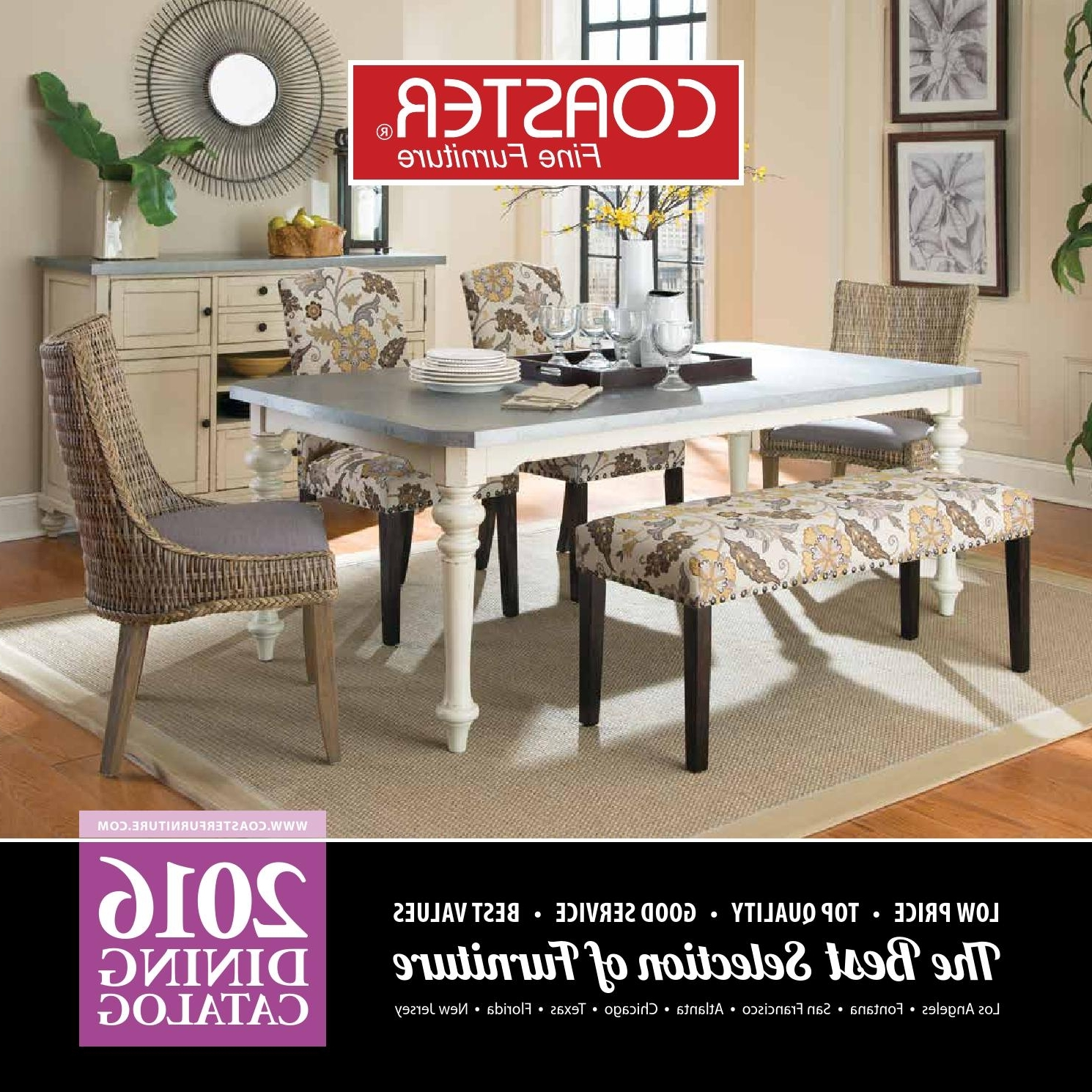 2016 Dining Catalogcoaster Company Of America – Issuu In Well Liked Craftsman 9 Piece Extension Dining Sets With Uph Side Chairs (Gallery 25 of 25)