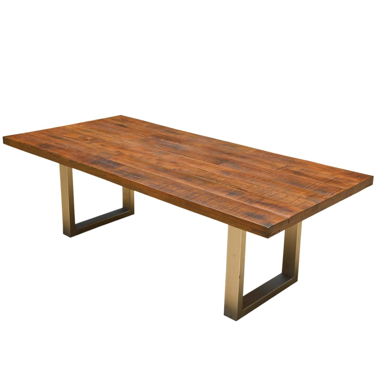 2017 Acacia Lyon Large Contemporary Rustic Solid Acacia Wood Dining Table Throughout Acacia Dining Tables (View 4 of 25)