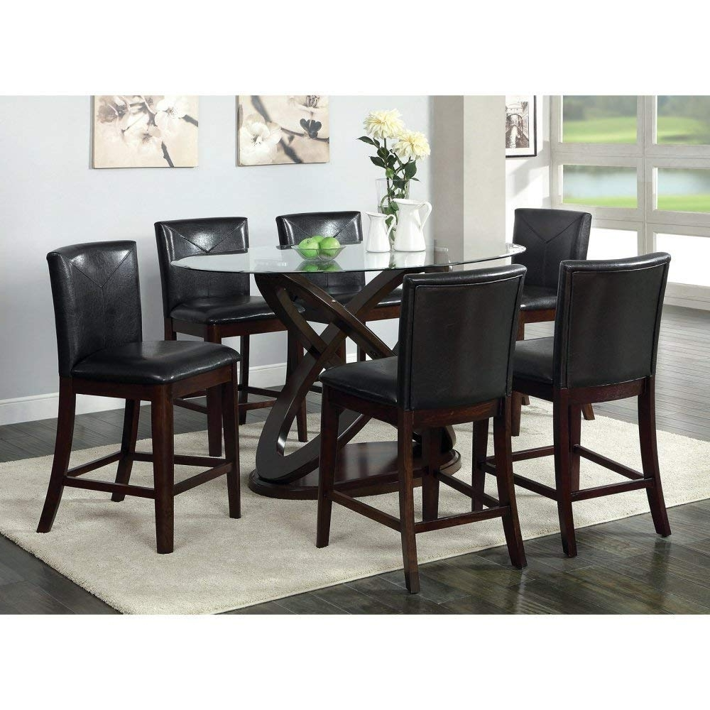 2017 Amazon – Furniture Of America Ollivander 7 Piece Counter Height With Market 7 Piece Counter Sets (Gallery 19 of 25)