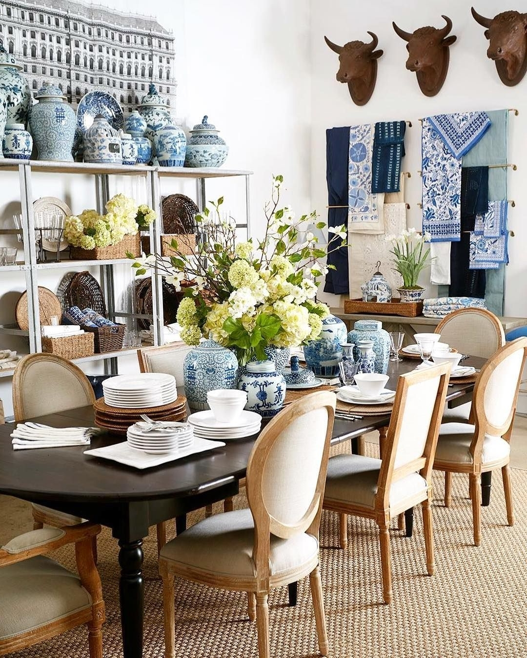 2017 Amos 7 Piece Extension Dining Sets In Simple Summer Dining Room (View 1 of 25)