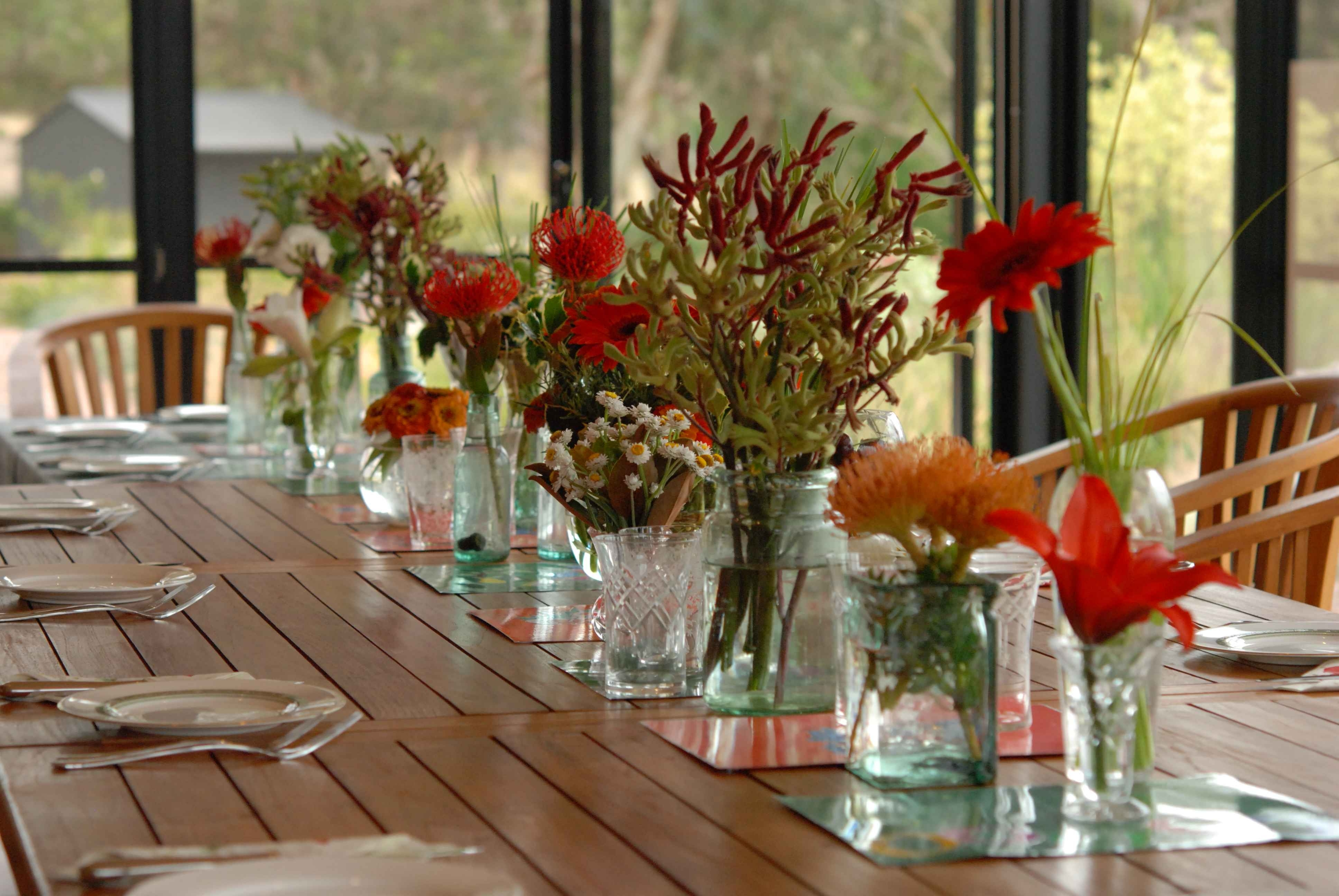 2017 Artificial Floral Arrangements For Dining Tables With Regard To Captivating Christmas Dining Table Decorations With Artificial (Gallery 18 of 25)