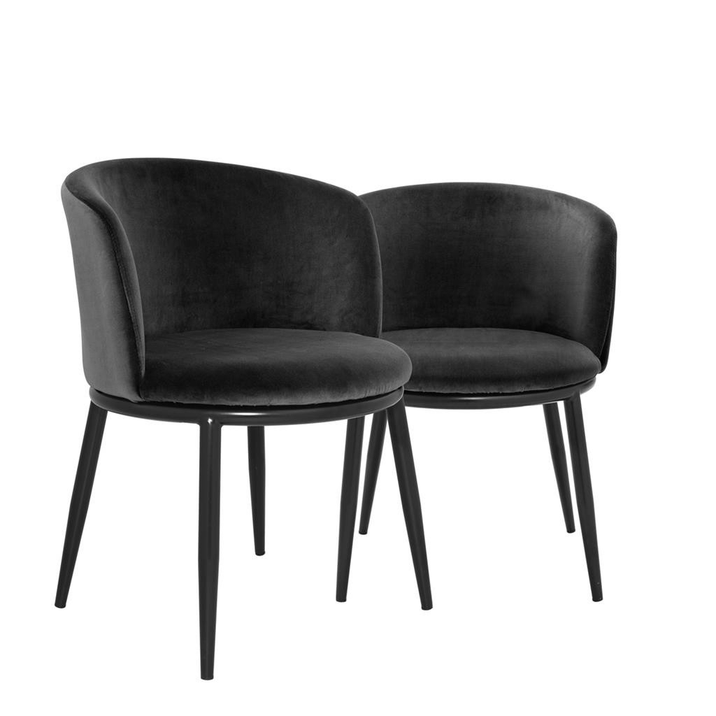 2017 Black Dining Chairs With Filmore Cameron Black Dining Chair Set Of 2 (Gallery 17 of 25)