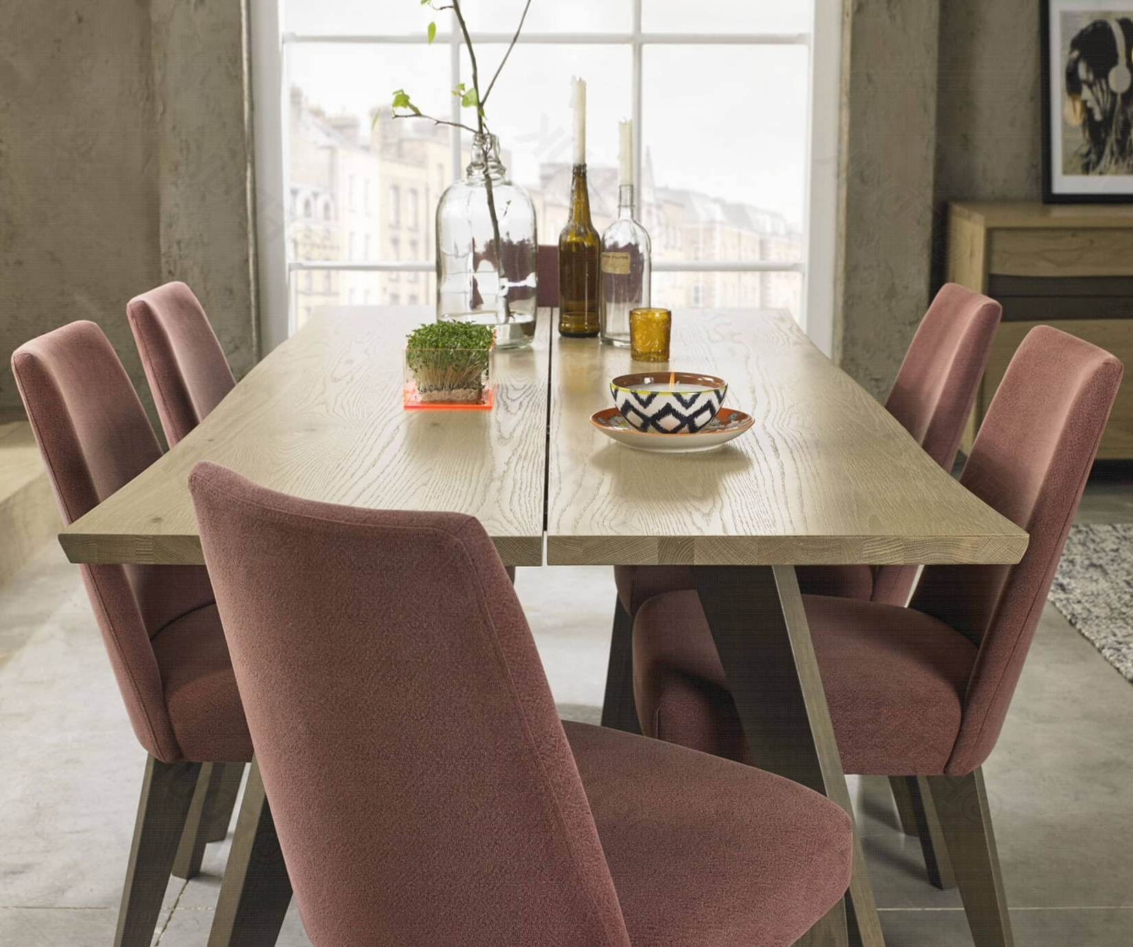 2017 Buy Bentley Designs Cadell 6 Seater Aged Oak Dining Set Online – Fduk For Oak 6 Seater Dining Tables (View 3 of 25)