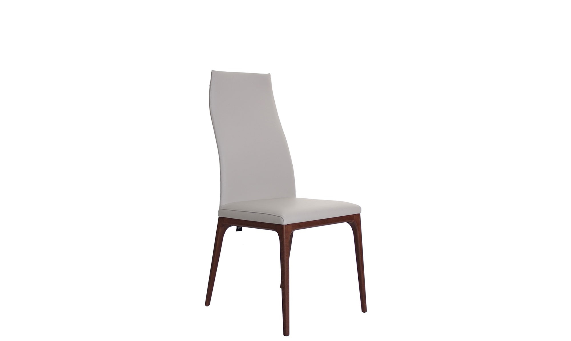 2017 Cattelan – Walnut High Back Dining Chairs – Fishpools Pertaining To Cream Faux Leather Dining Chairs (View 19 of 25)