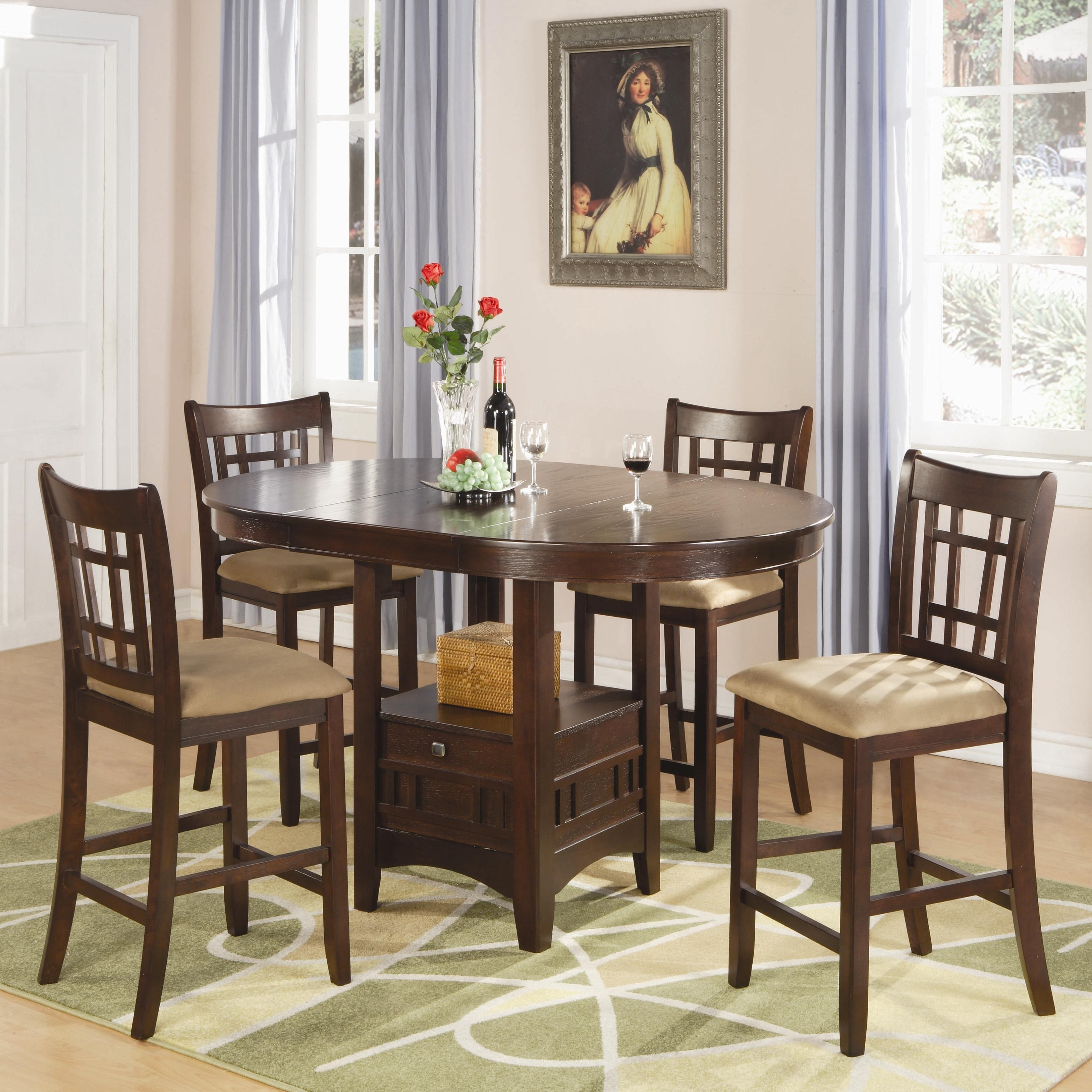 2017 Craftsman 5 Piece Round Dining Sets With Uph Side Chairs in Coaster - Find A Local Furniture Store With Coaster Fine Furniture