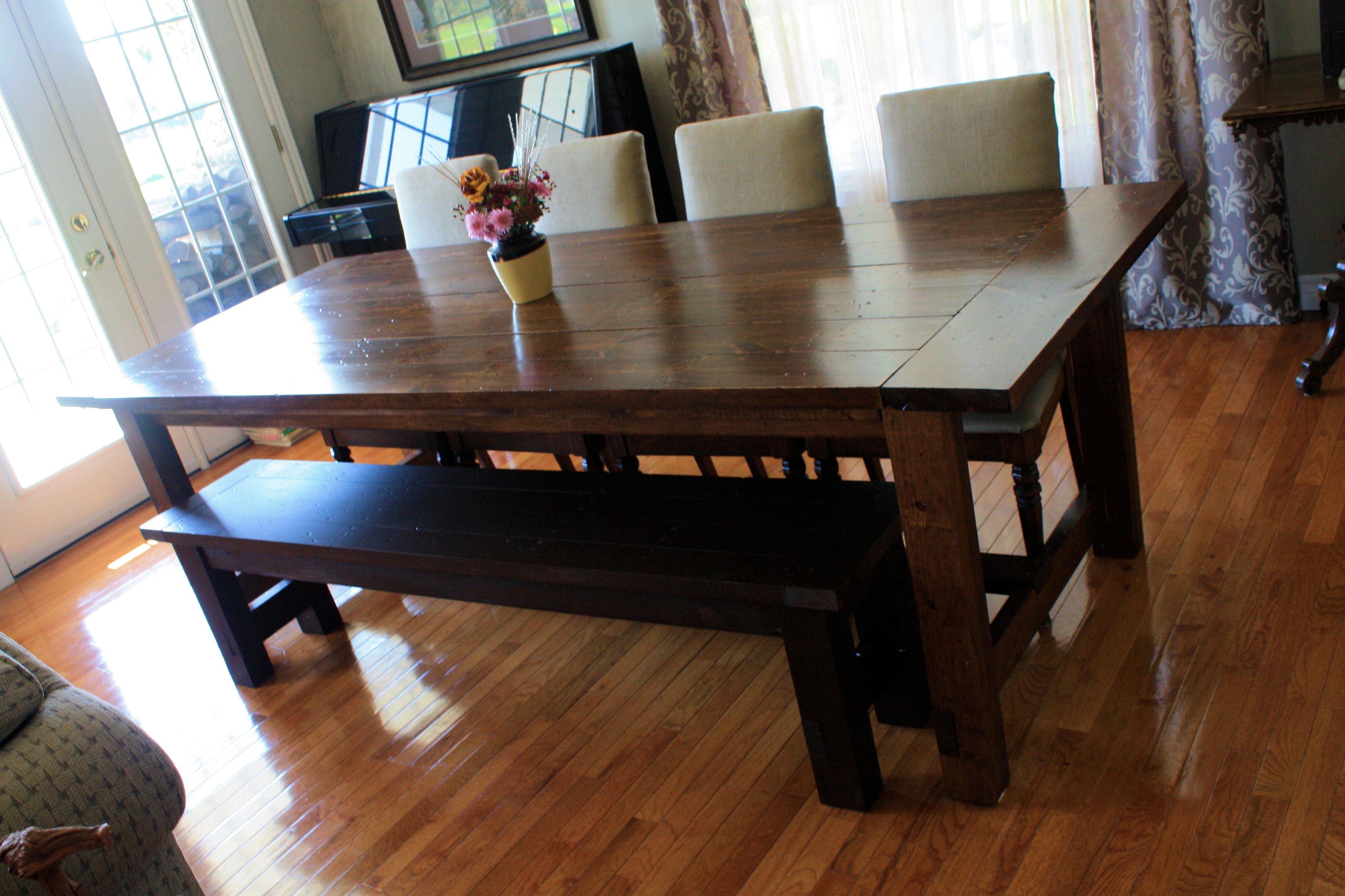 2017 Dining Room Handcrafted Wooden Dining Tables Dark Wood Dining Table Inside Solid Dark Wood Dining Tables (View 6 of 25)