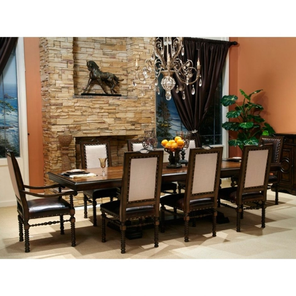 2017 Dining Tables And 8 Chairs Sets With 51 Dining Table Set 8 Chairs, Chadoni 7 Piece Dining Set (Table With (View 21 of 25)