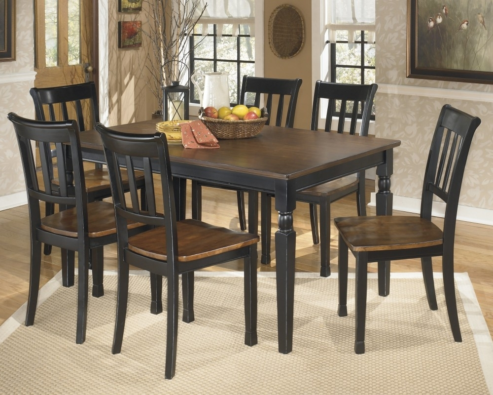2017 Dining Tables And Chairs For Two pertaining to Owingsville Rectangular Dining Room Table & 6 Side Chairs