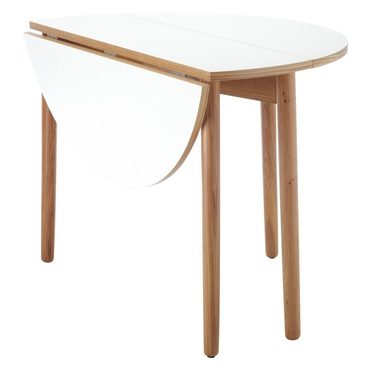 2017 Folding Dining Tables Inside Best Suki 2 4 Seat White Folding Round Dining Table Buy Now At (Gallery 23 of 25)
