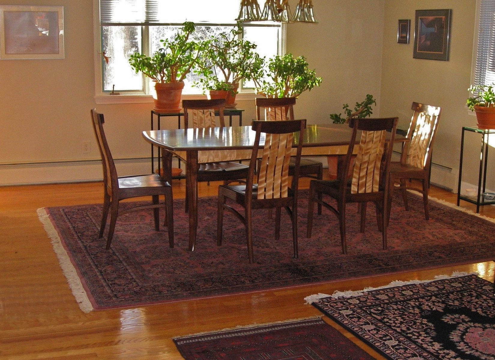2017 Hand Made Dining Table And Six Chairsjeff Lind, Fine Woodworking Inside Dining Tables And Six Chairs (View 1 of 25)