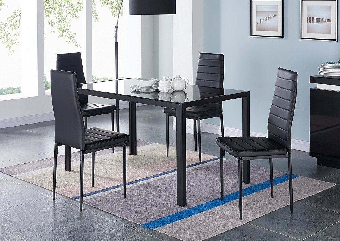 2017 Idsonlinecorp Compact 5 Piece Dining Set & Reviews (Gallery 21 of 25)