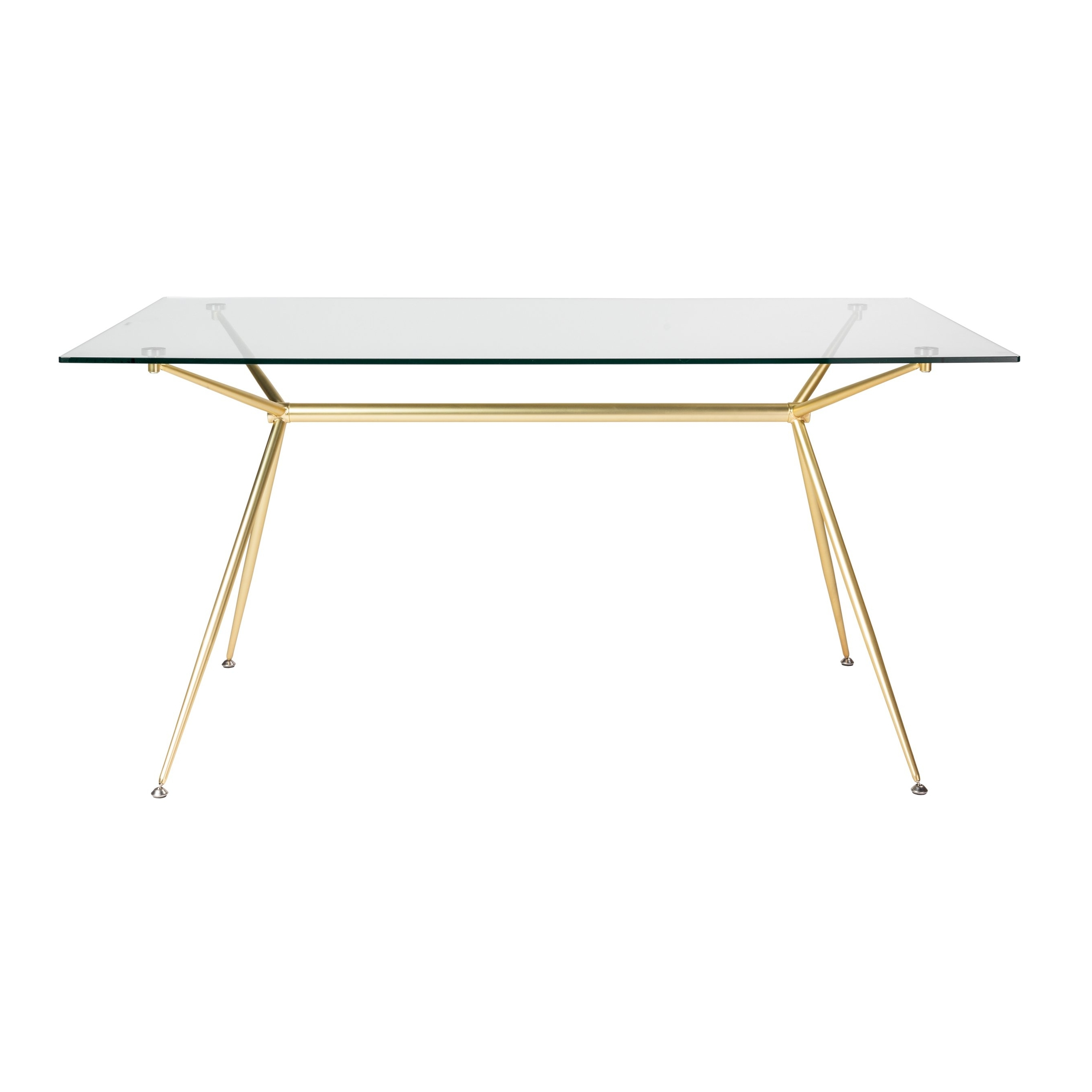"""2017 Ina Matte Black 60 Inch Counter Tables With Frosted Glass Regarding Shop Atos 60"""" Rectangle Dining Table/desk With Clear Tempered Glass (View 2 of 25)"""