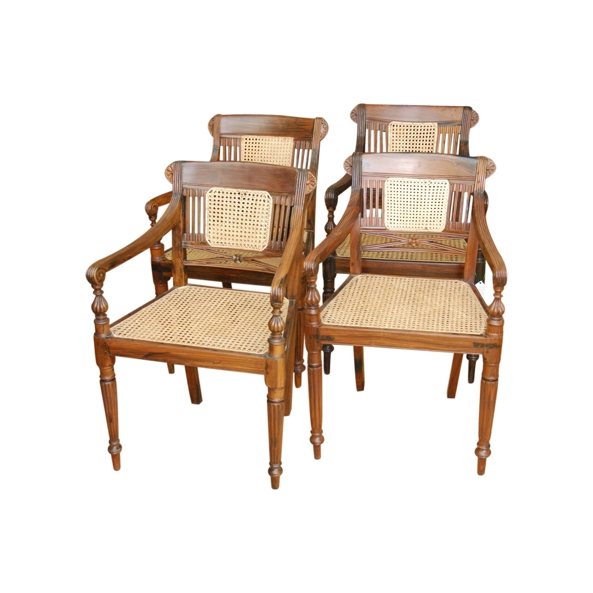 2017 Indian Dining Chairs Regarding Set Of Four Rosewood Anglo Indian Chairs Sold: Joseph Joseph & Joseph (View 2 of 25)