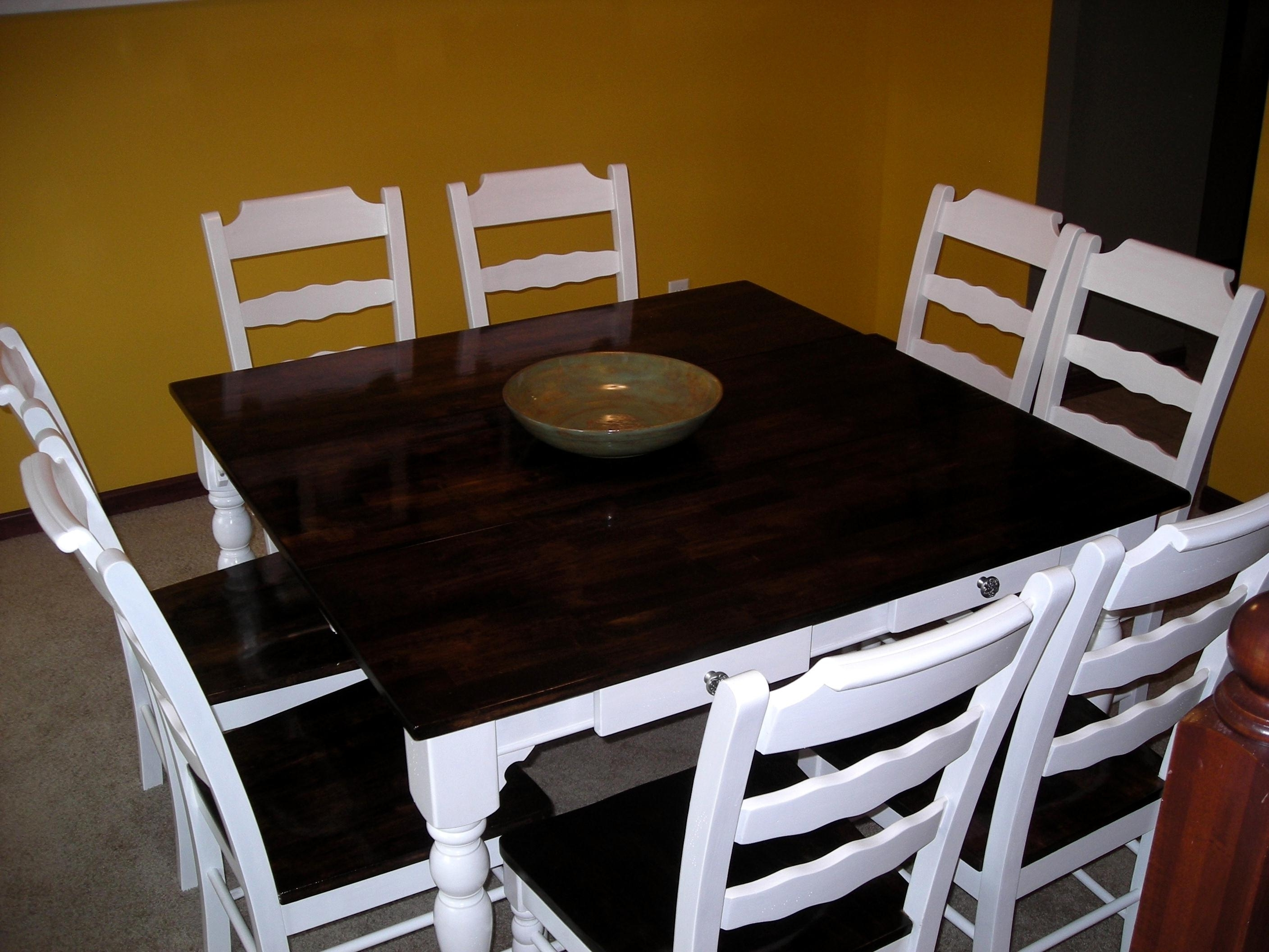 2017 Ivory Painted Dining Tables In Audacious Refinish Dining Table Chairs Ing Table And Ivory Paint (View 1 of 25)