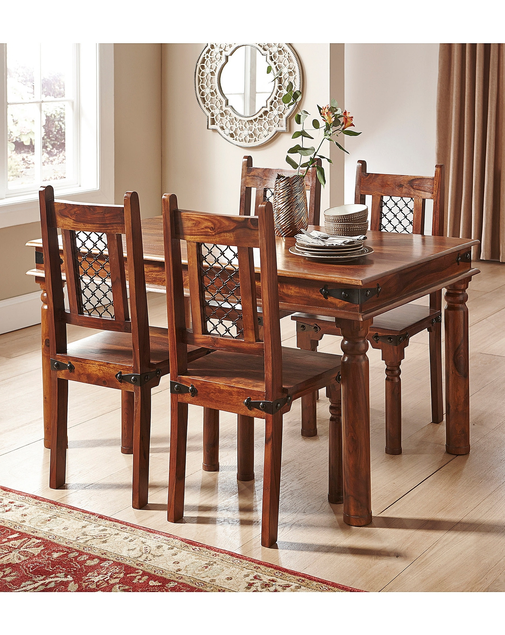 2017 Jaipur Sheesham Dining Table & 4 Chairs (Gallery 15 of 25)