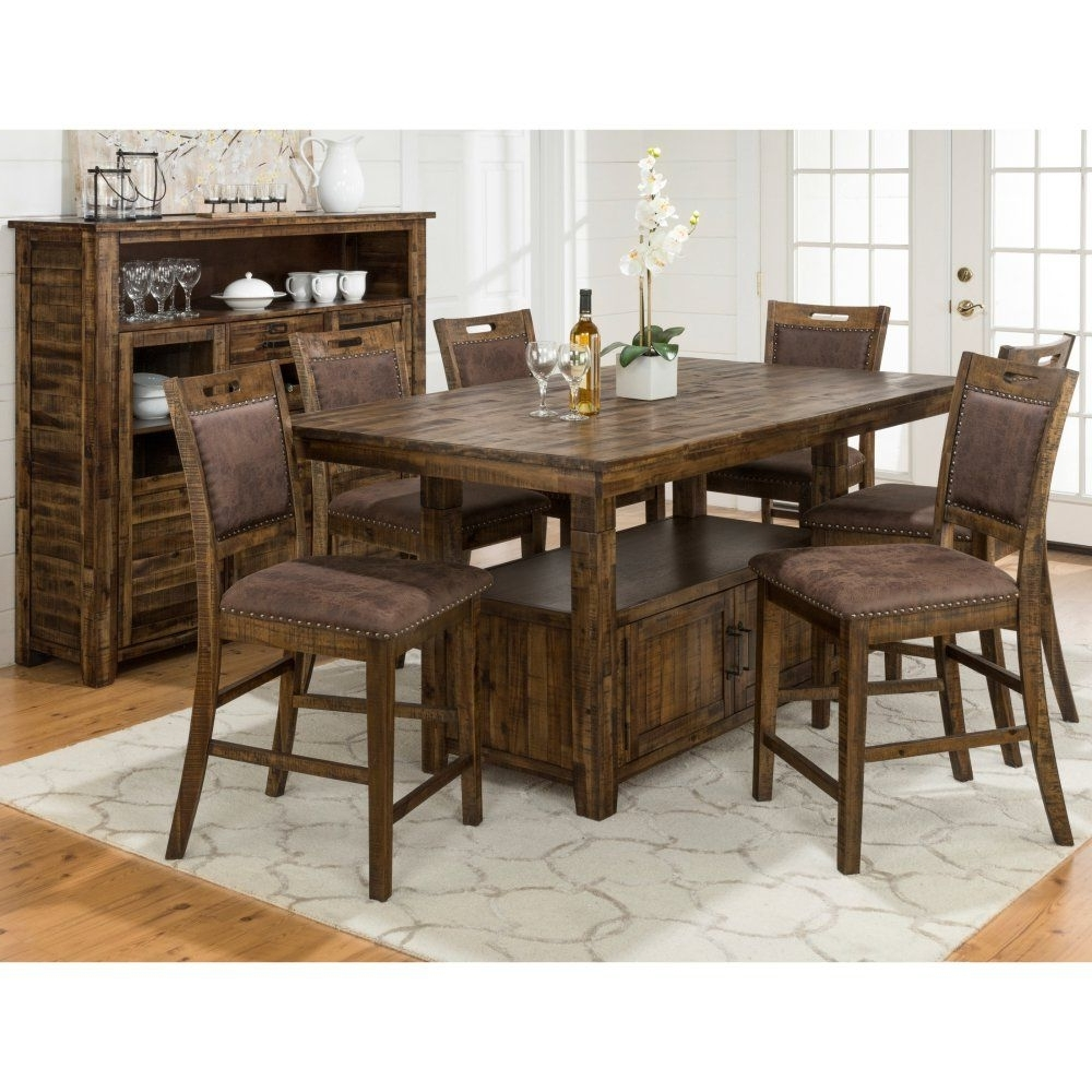 2017 Jofran Cannon Valley Dining Table With Storage Base (View 23 of 25)