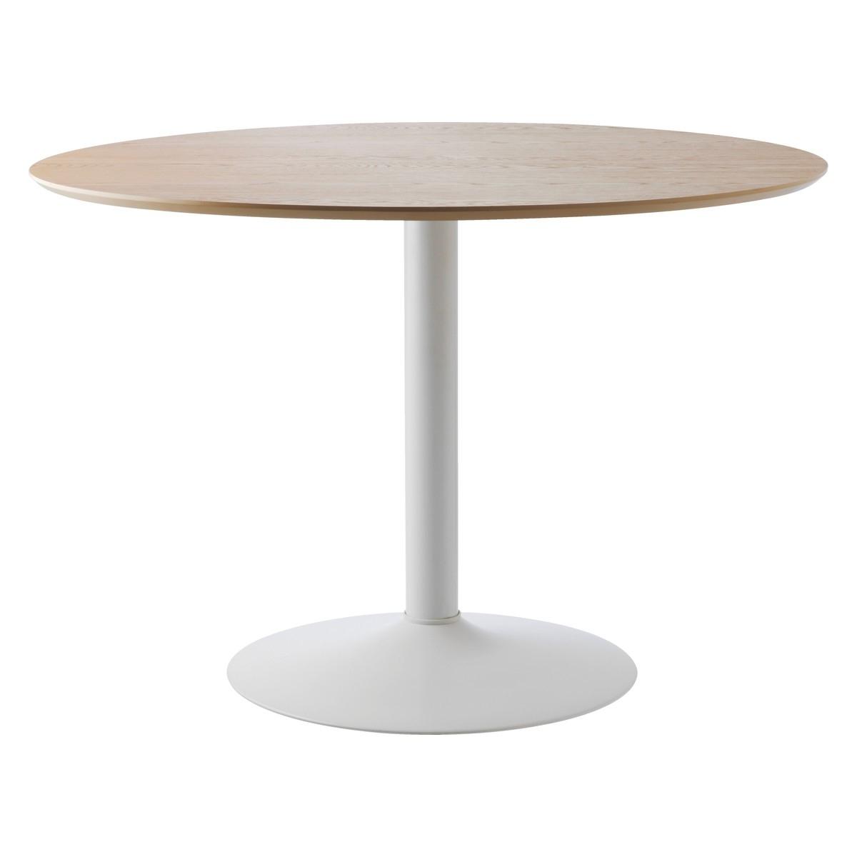 2017 Lance 4 Seater Oak Veneer Round Dining Table