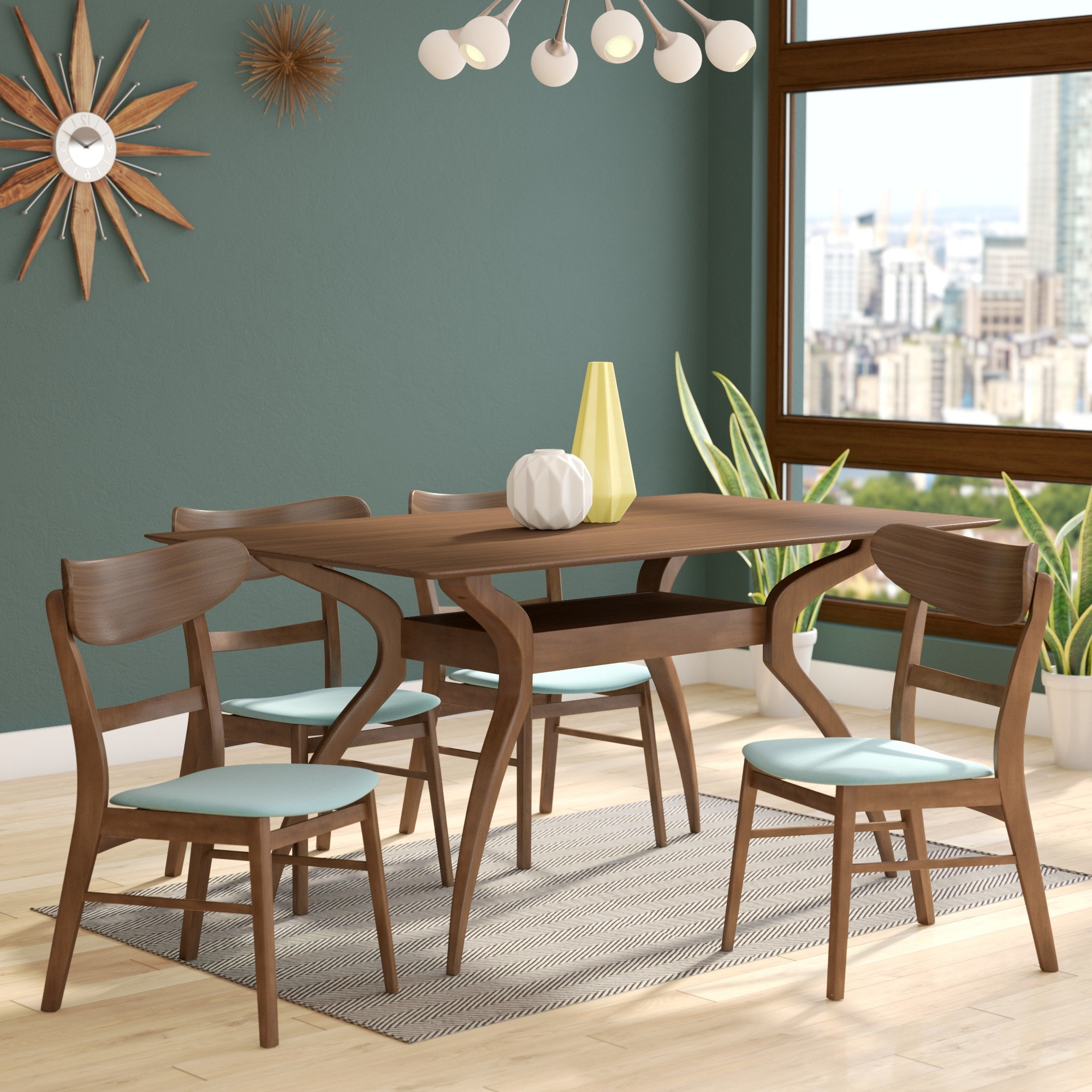 2017 Langley Street Patterson 5 Piece Dining Set & Reviews (View 3 of 25)