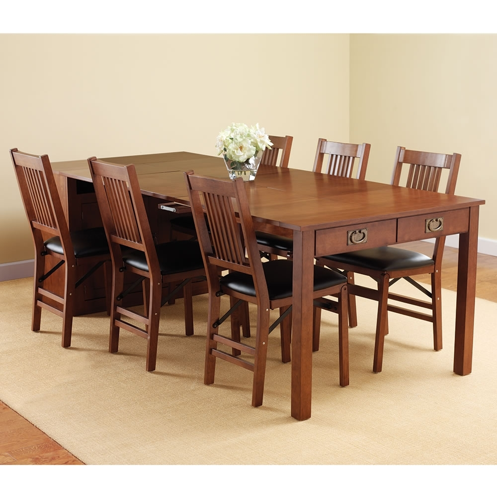 2017 Large Folding Dining Room Table — Bluehawkboosters Home Design For Folding Dining Table And Chairs Sets (Gallery 10 of 25)