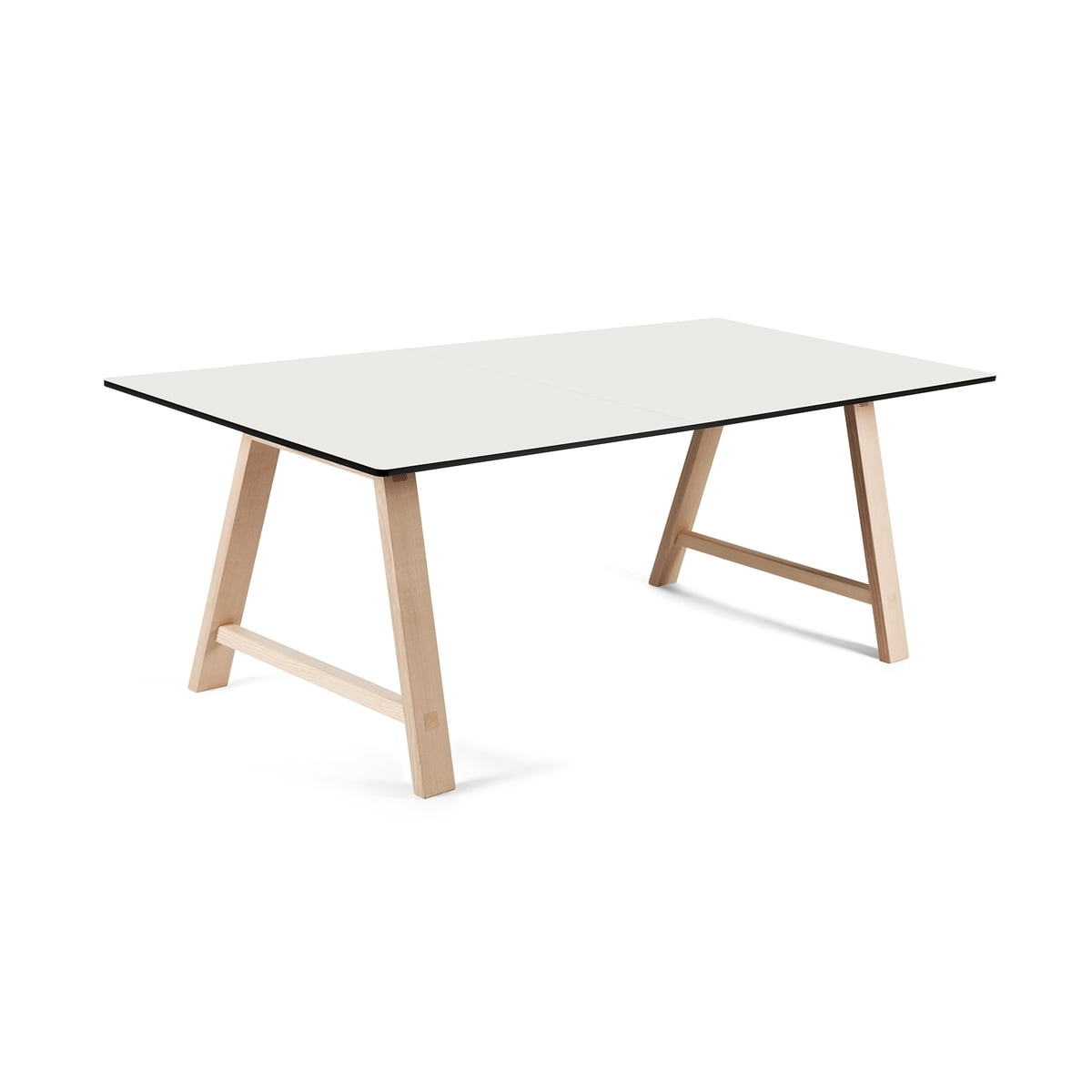 2017 Lassen Extension Rectangle Dining Tables Pertaining To Andersen Furniture – T1 Ausziehtisch 160Cm, Eiche Geseift / Laminat Weiß (Gallery 21 of 25)