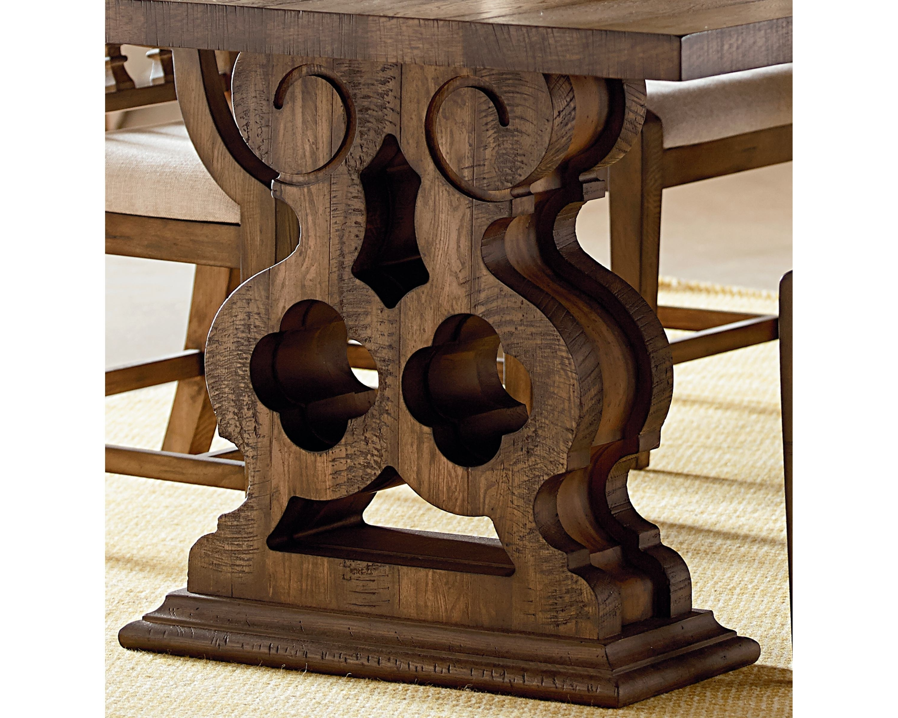 2017 Magnolia Home Double Pedestal Dining Tables intended for Double Pedestal Dining Table - Magnolia Home