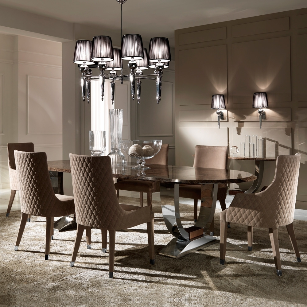 2017 Marble Dining Room Table Sets Acme Bologna 7 Pc Marble, Marble Table Pertaining To Marble Dining Tables Sets (View 1 of 25)