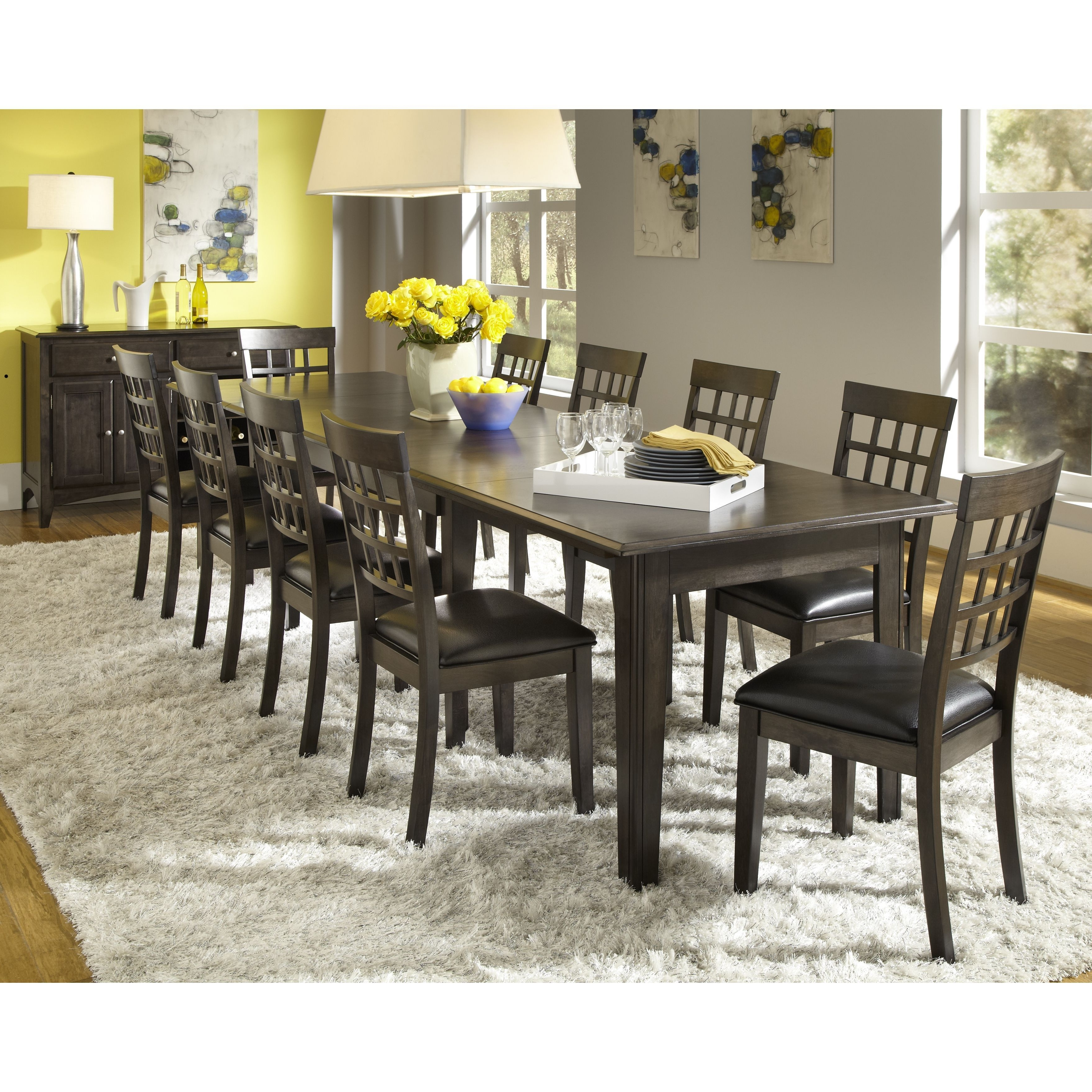 2017 Norwood 7 Piece Rectangle Extension Dining Sets Regarding Simply Solid Corina Solid Wood 10 Piece Dining Collection (Dining (Gallery 7 of 25)