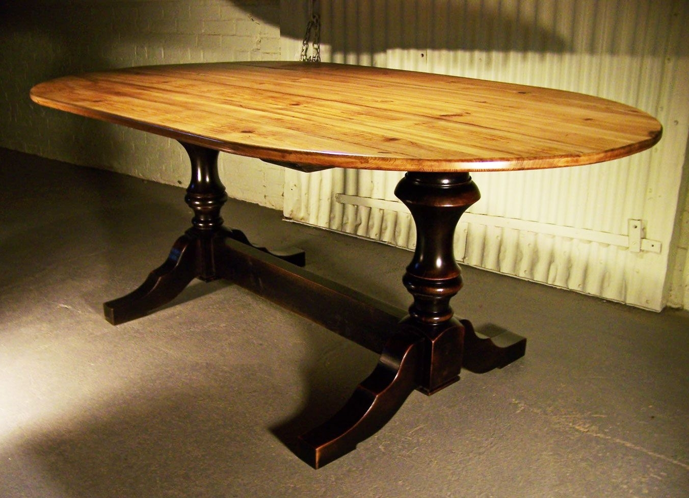 2017 Oval Reclaimed Wood Dining Tables In Farmhouse Tables – Any Size, Shape, Color (View 2 of 25)