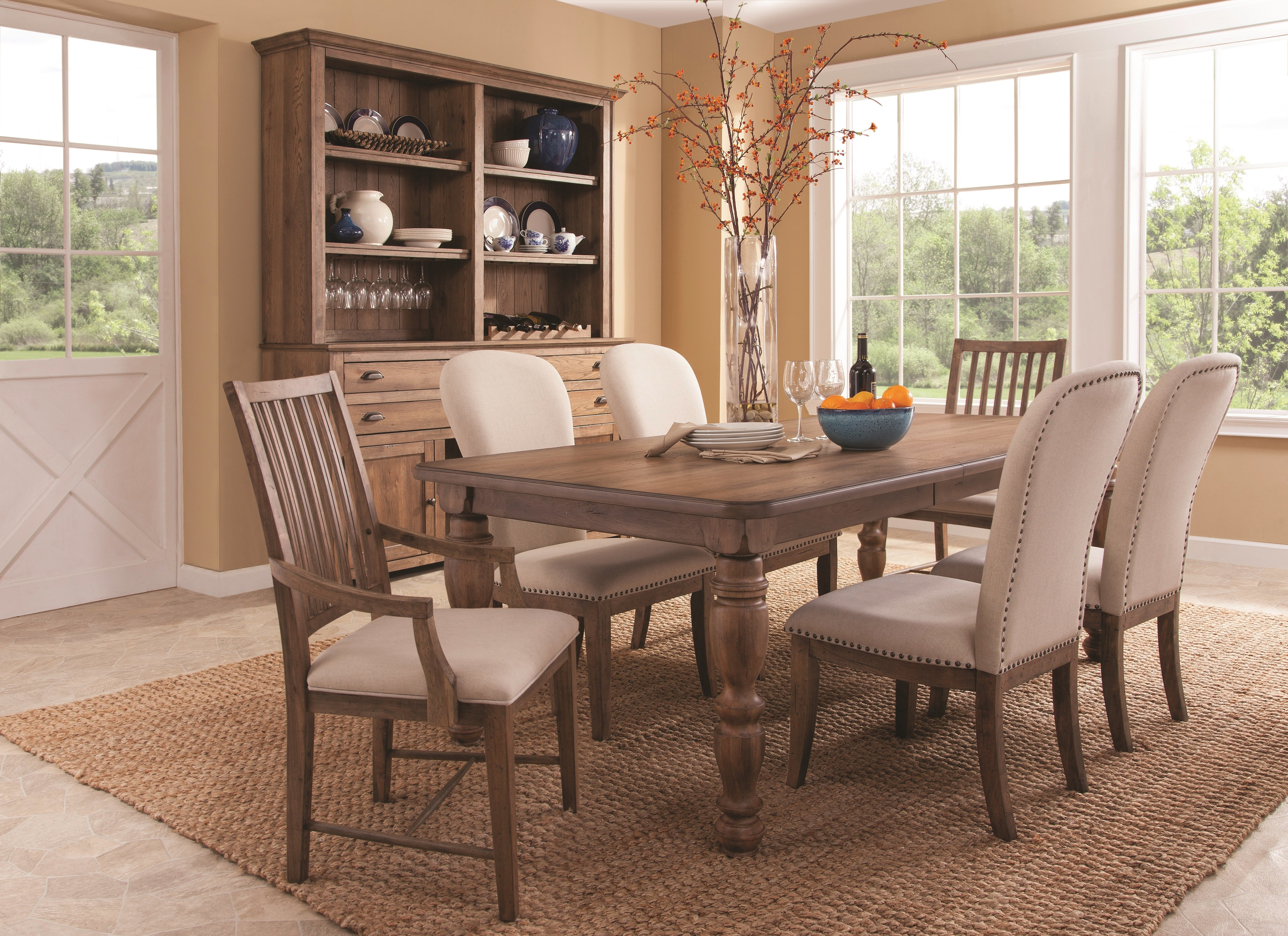 2017 Panama Jack South Mountain Farmhouse Extendable Dining Table Set For Extendable Dining Tables Sets (View 7 of 25)