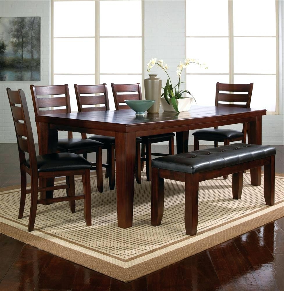 2017 Partridge 7 Piece Dining Sets Pertaining To 7 Piece Dining Set With Bench Crown Mark Table W 5 Chairs 1 – Applaunch (View 1 of 25)