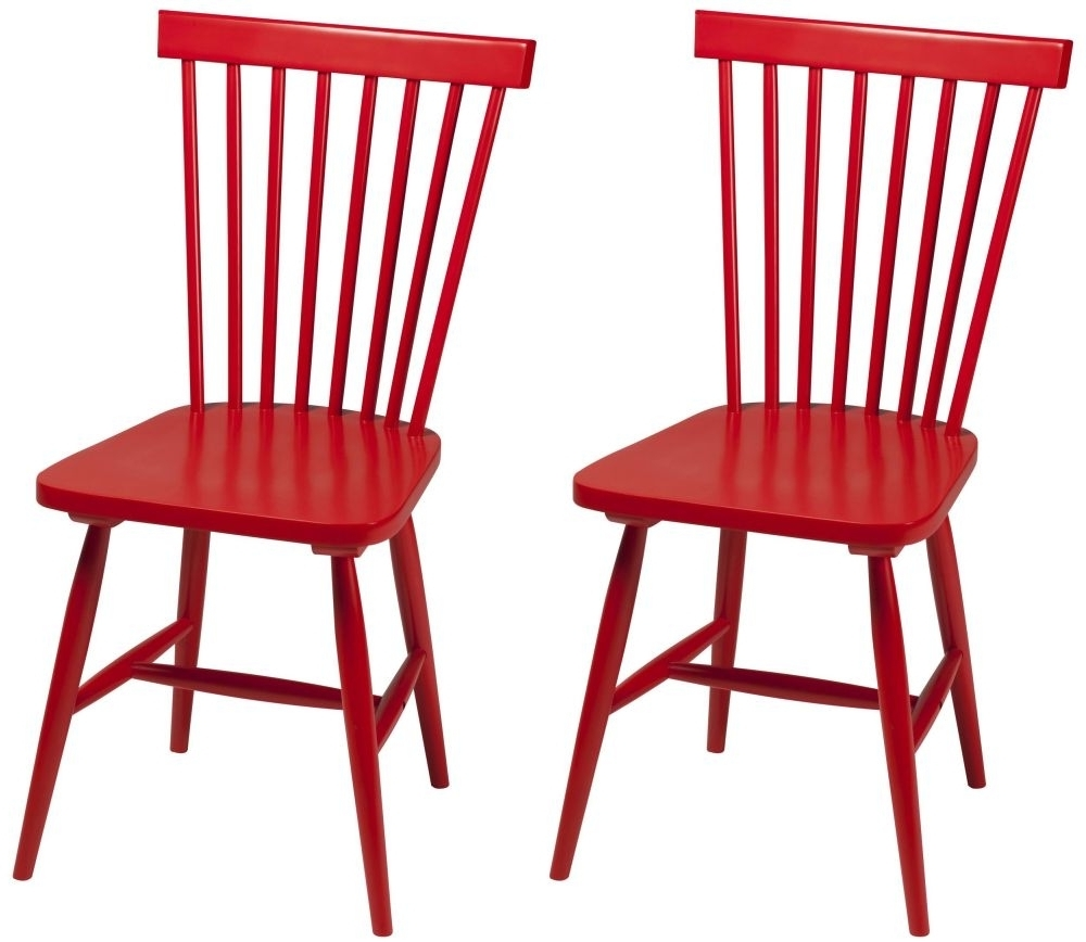 2017 Red Dining Chairs In Buy Agnes Red Dining Chair (Pair) Online – Furntastic (Gallery 4 of 25)