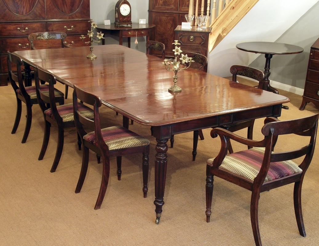 2017 Regency Dining Table, Antique Dining Table, Mahogany Dining Table with regard to Mahogany Extending Dining Tables And Chairs